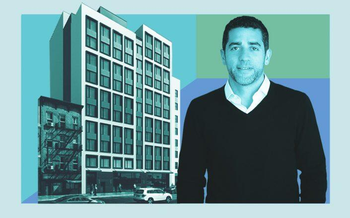 Slate Property Group's Martin Nussbaum and a rendering of the project