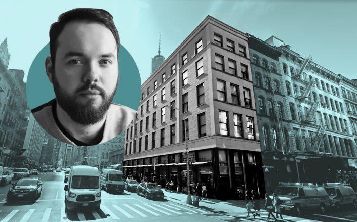 Sonder CEO Francis Davidson and 130 Duane Street (Sonder, Google Maps)