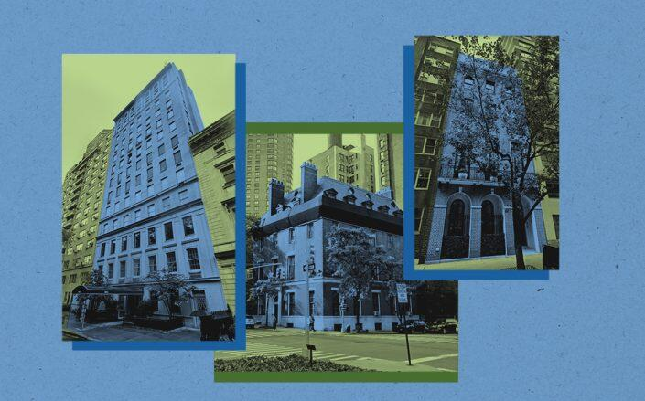 From left: 944 Fifth Avenue, 67-69 East 93rd Street and 15 East 88th Street (Google Maps)