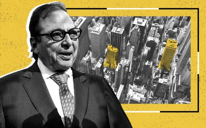 Douglas Durst with 114 West 47th Street and 1133 Sixth Avenue (Getty, Google Maps)