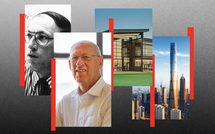 Art Gensler with the LAFC Performance Center and Shanghai Tower (Credit: Courtesy of Gensler, Emily Hagopian, Blackstation)
