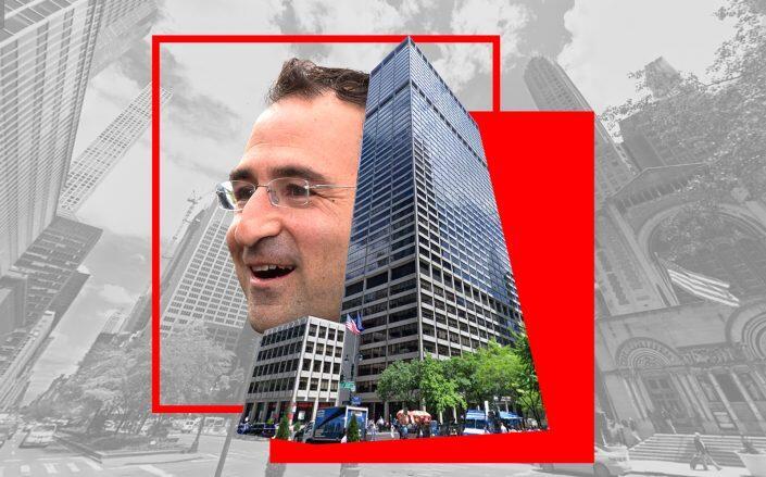 Blackstone president Jon Gray and the Blackstone headquarters at 345 Park Avenue in NYC (Getty, Google Maps)