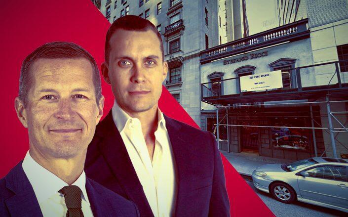 Klövern executive Peeter Kinnunen, GDSNY CEO Michael Kirchmann and 407 Park Avenue (Klövern, GDSNY, Google Maps)