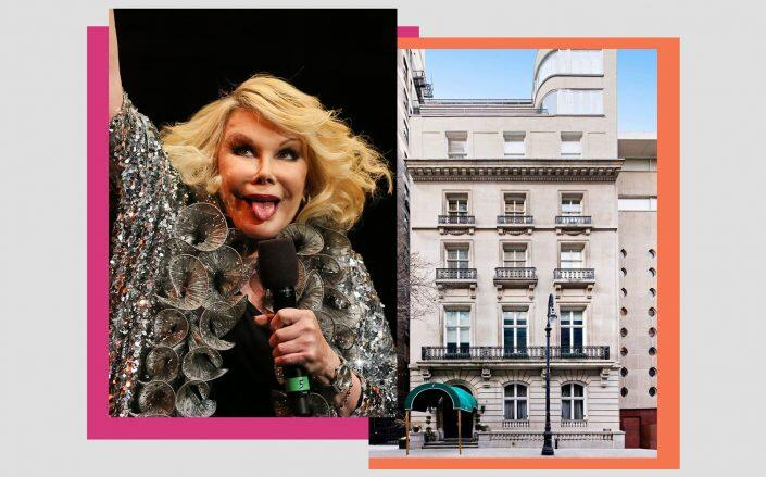 Joan Rivers and 1 East 62nd Street (Getty, Sotheby's)