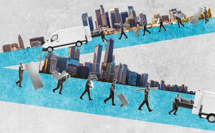 Of the 110 metro areas with at least half a million people, 29 saw losses in 2020. (iStock)