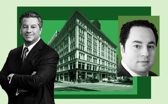 SL Green Realty CEO Marc Holliday, 635-641 Sixth Avenue and Spear Street Capital managing director Zachary Resnick (SL Green, LinkedIn)