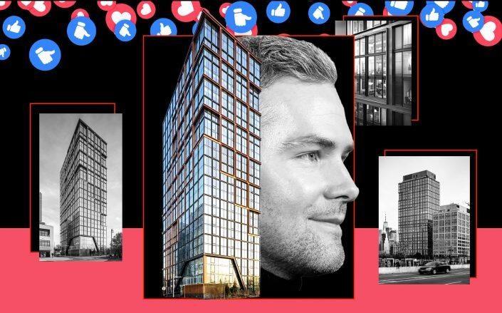 Quay Tower at 50 Park Drive and Ryan Serhant (ODA, Getty)