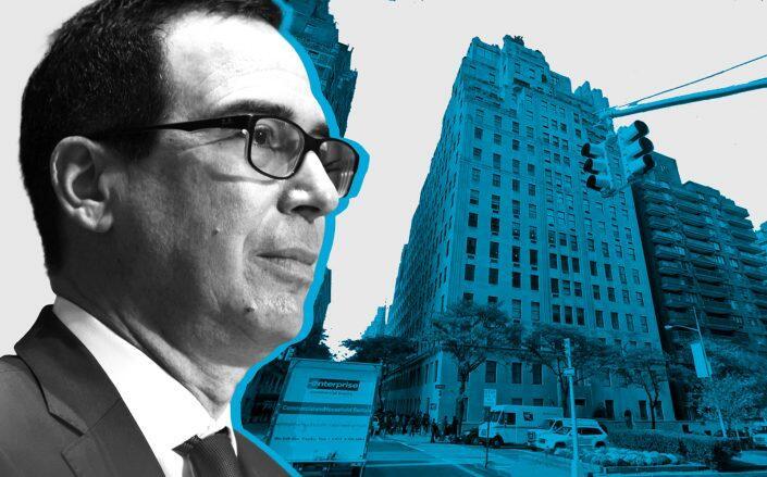 Steven Mnuchin and 740 Park Avenue (Getty, Google Maps)