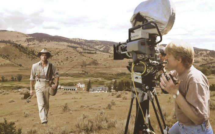 The Montana property with director Robert Redford and star Brad Pitt. (Getty, Swan Land Company)