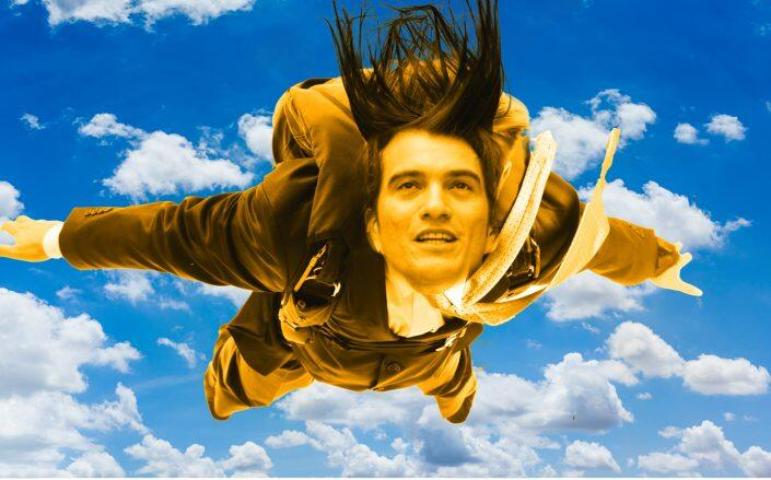 Photo illustration of Adam Neumann (Getty, iStock/Illustration by Kevin Rebong for The Real Deal)