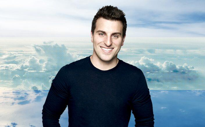 Airbnb CEO Brian Chesky. (Airbnb, Getty)