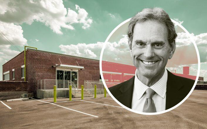 CenterPoint CEO Bob Chapman and the distribution center on Leggett Avenue. (JLL, CenterPoint)