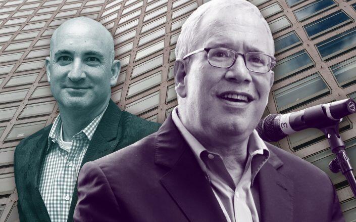 Hudson Companies President David Kramer and Comptroller Scott Stringer. (Getty)
