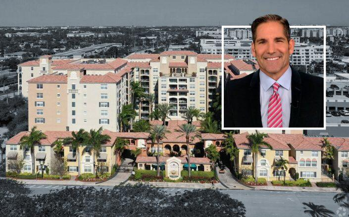 Grant Cardone with the Boca Raton apartments. (Facebook via Cardone, Realtor)