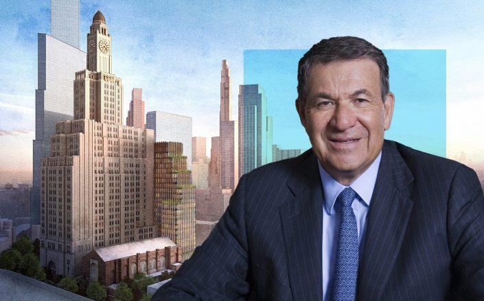 Gotham Organization Chairman Joel Picket with the proposed development at 130 Felix Street. (Gotham, 130 Felix)