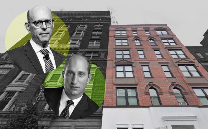 Project Renewal CEO Eric Rosenbaum, Attorney Adam Leitman Bailey and 27 West 11th Street. (Google Maps, Facebook via Project Renewal, Bailey)