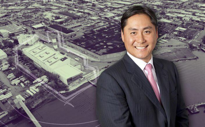 Innovo Property Group CEO Andrew Chung and 1110 Oak Point Avenue 1110 Oak Point Avenue. (New York Expo Center, Innovo)