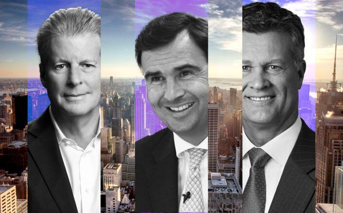 Colliers CEO Jay Hennick, JLL CEO Christian Ulbrich and Cushman & Wakefield CEO Brett White. (Getty, JLL, Colliers, Cushman & Wakefield)