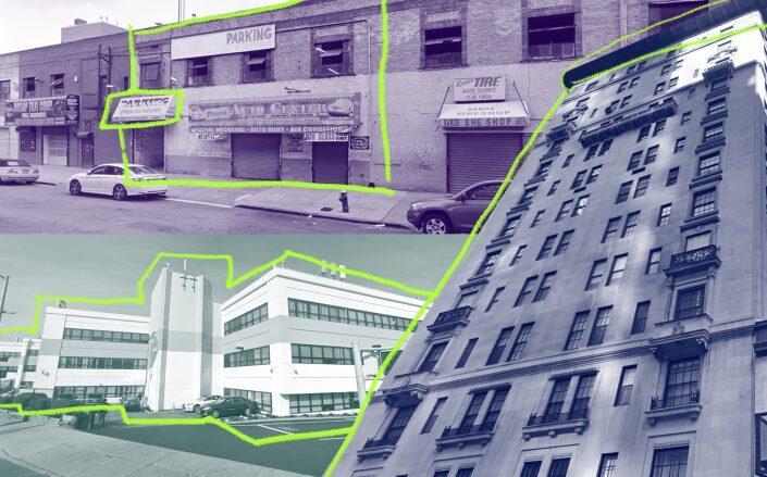 1959 Jerome Avenue, 133-33 Brookville Boulevard and 407 Park Avenue. (Google Maps)