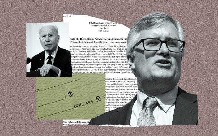 President Joe Biden and New York State Senator Brian Kavanagh. (Getty, Department of Treasury)