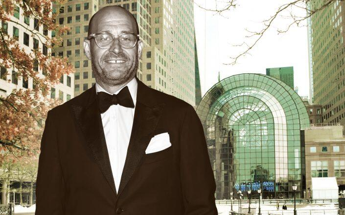 Saks CEO Marc Matrick with Brookfield Place, where the company has their offices. (Getty)