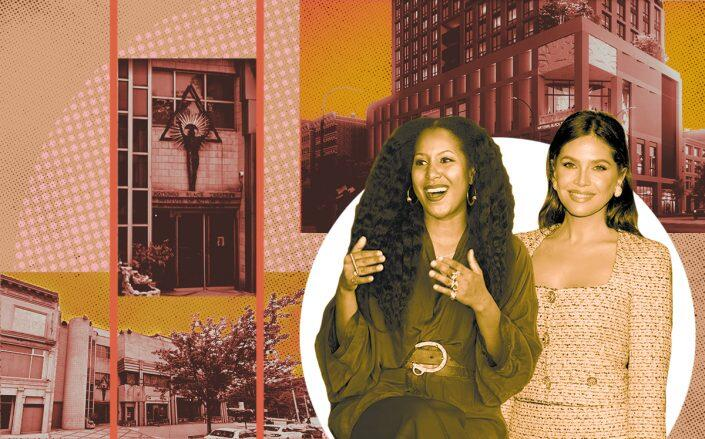 2033 Fifth Avenue with National Black Theater CEO Sade Lythcott and Dasha Zhukova (Google Maps, Luxigon, Getty)