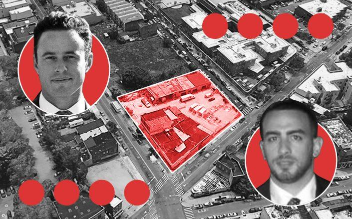 RiseBoro's Scott Short and Slate Property Group's John Valladares with 326 Rockaway Avenue (Google Maps)