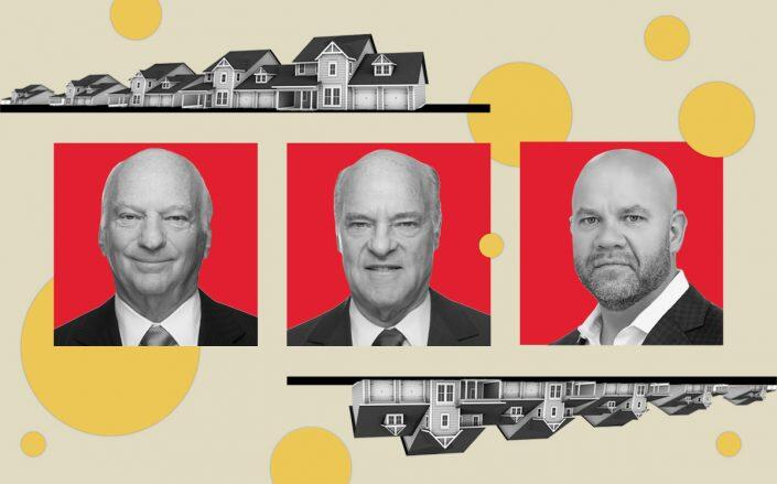 KKR CEOs George R. Roberts and Henry Kravis with My Community Homes CEO Marcos Egipciaco (Linkedin, iStock)