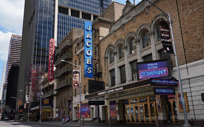 A view of Gerald Schoenfeld Theatre and Jacobs Theatre on June 29, 2020 (Getty)