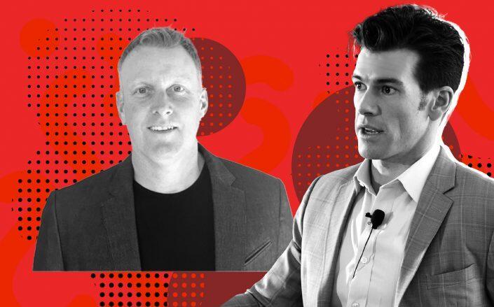 Lessen CEO Jay McKee and Fifth Wall managing partner Brendan Wallace (LinkedIn)
