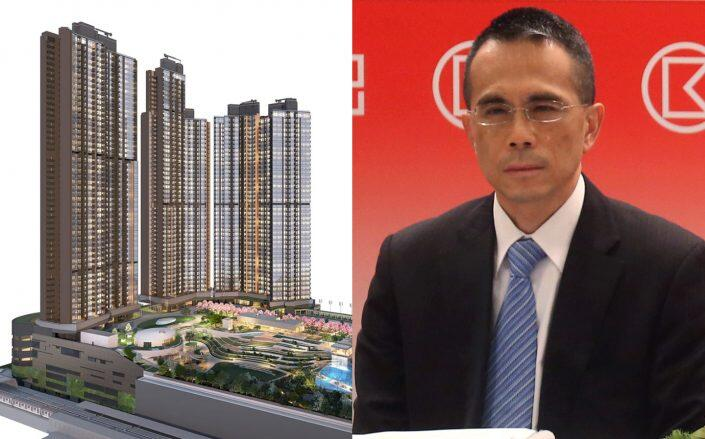 A rendering of Pavilia Farm III and CK Asset Holdings chair Victor Li Tzar-kuoi (The Pavilia Farm 360, Getty)