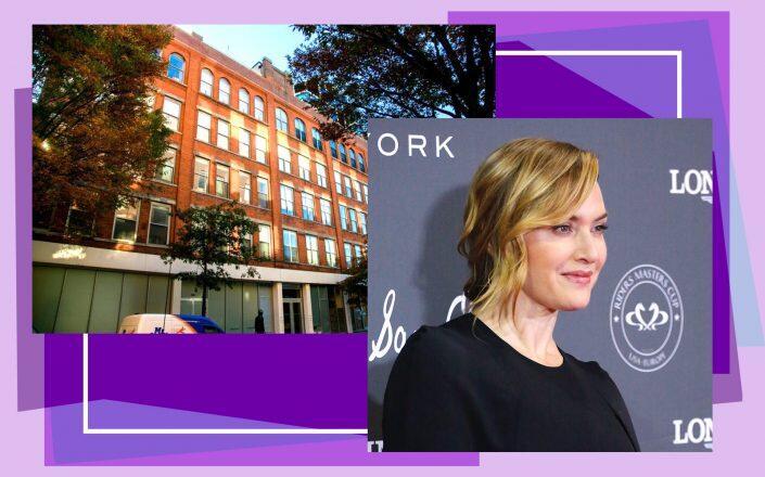 Kate Winslet and 532 West 22nd Street (Getty, Aranda Plumbing)
