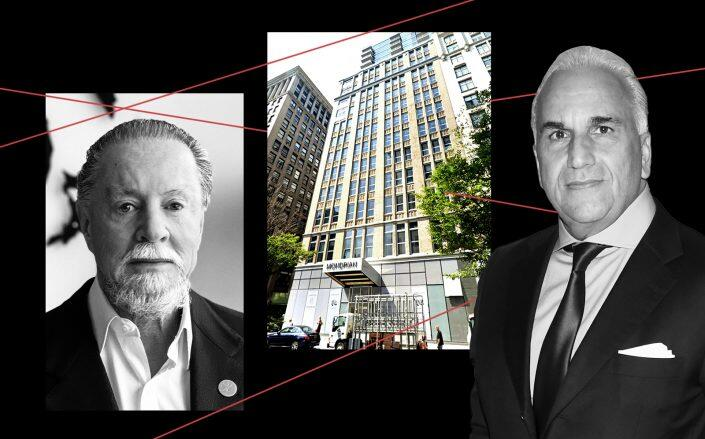 Eyal Ofer, 444 Park Avenue South and David Moin (Ofer/Wikimedia, Google Maps, Getty)