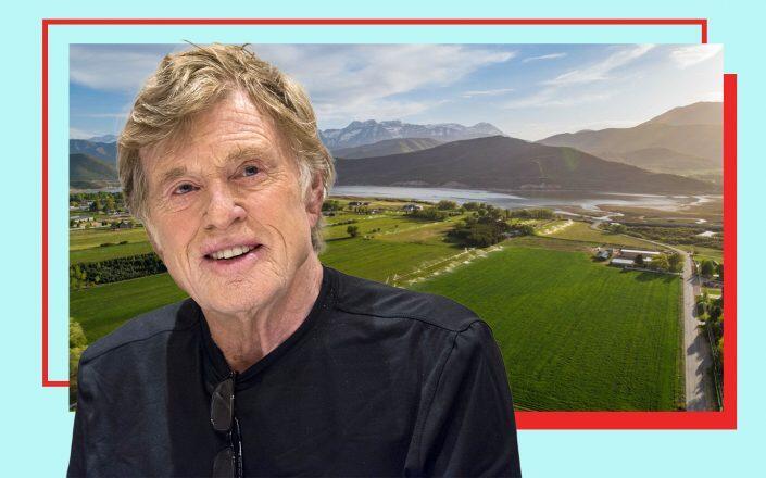 Robert Redford and the Utah ranch (Photos via Getty, UTAH REAL ESTATE / Windermere Real Estate-Utah / Jaisa Bishop)