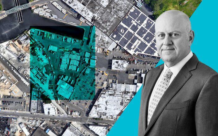 46-81 Metropolitan Avenue in Maspeth, Queens and Prologis CEO Hamid Moghadam (Google Maps, Prologis)