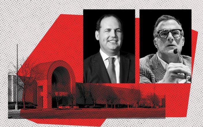 RPT Realty CEO Brian Harper and Washington Prime Group CEO Louis Conforti (RPT, Twitter, iStock)