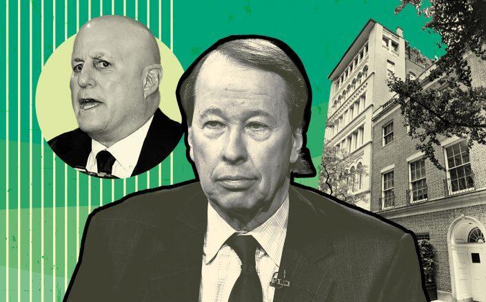 Ron Perelman, Blackstone Group executive Tony James and 35-39 East 62nd Street (Getty, Google Maps)