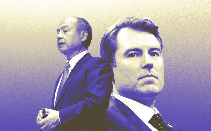 Katerra CEO Paal Kibsgaard (right) and Softbank CEO Masayoshi Son (Getty)