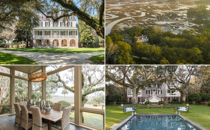 The 1803 mansion surrounded by marshlands (Kiawah Island Real Estate)
