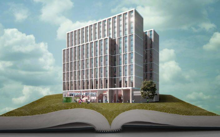 Renderings of The Eliza Apartments at the Redeveloped Inwood Library (New York Housing Conference)