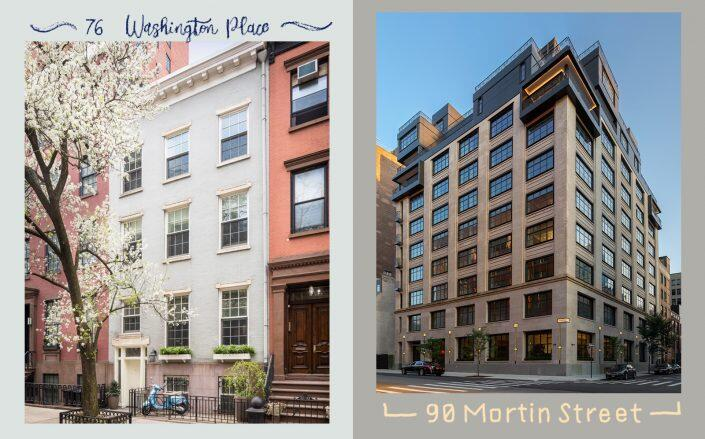 The most expensive deals signed last week were a condo at 76 Washington Place and a penthouse at 90 Morton Street. (Sotheby's, Street Easy)
