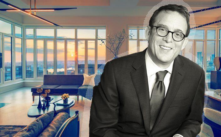 The penthouse in Lightstone's 40 East End with developer David Lichtenstein  (Lightstone)