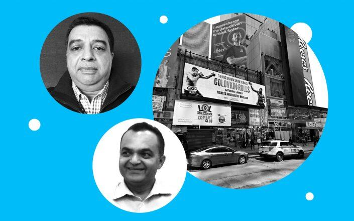 Atlas Hospitality Managing Member Raj Guru and Vinod Chand with 711 Seventh Avenue (Atlas, Google Maps)