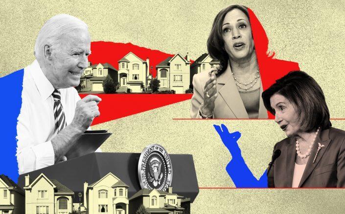 President Joe Biden, Vice President Kamala Harris and Speaker Nancy Pelosi (Getty)