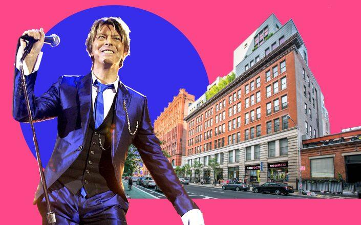 David Bowie and 285 Lafayette Street (Getty, Kushner Companies)