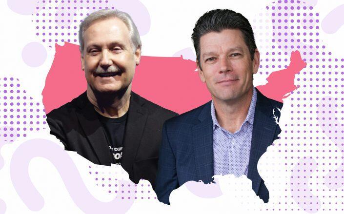Keller Williams' Gary Keller and Marc King (KW, iStock)