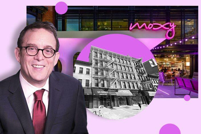 Lightstone Group CEO David Lichtenstein and 145 Bowery (Lightstone, Google Maps, Moxy Hotels)