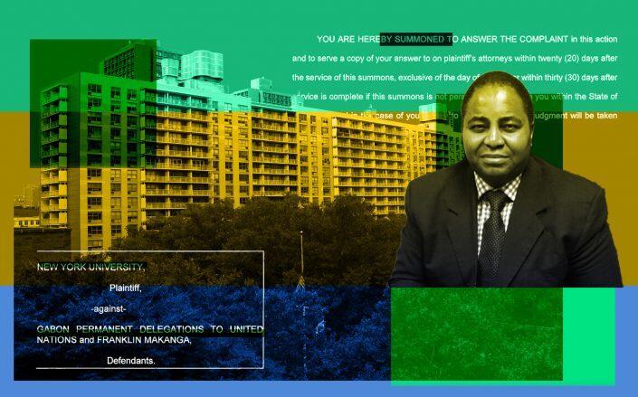 Ambassador Franklin Makanga and 4 Washington Square Village (Wikimedia, Facebook)