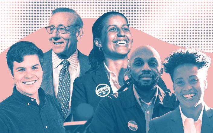 From left: Open New York's William Thomas, Related's Stephen Ross, Tiffany Cabán, Michael Hollingsworth and Crystal Hudson (Open New York, Getty)