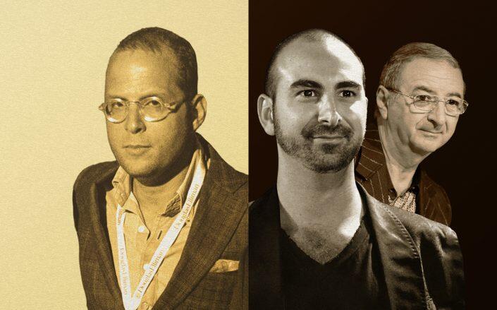 From left: Rotem Rosen, Alex Sapir and Tamir Sapir (Getty)